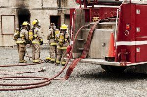 fire hose line for fire hose nozzles